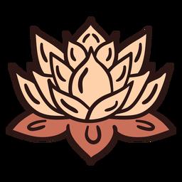 Ilustração de flor de lótus espiritual