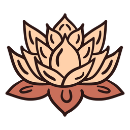 Spiritual lotus flower illustration