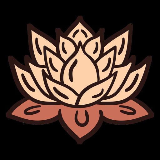 Spiritual lotus flower illustration Transparent PNG