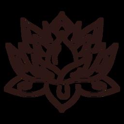 Traço de flor de lótus espiritual