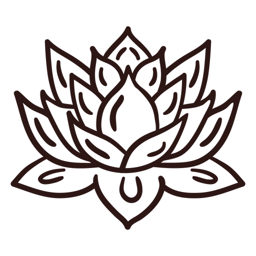 Spiritual lotus flower stroke Transparent PNG