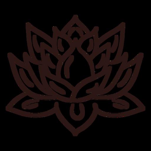 Spiritual lotus flower stroke