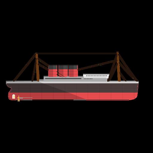 Steam power ship illustration