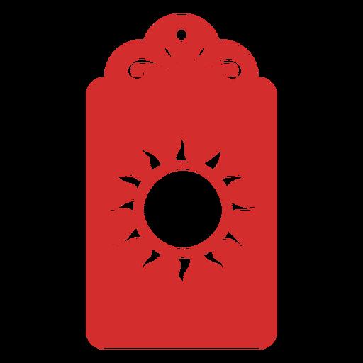Sun papercut tag