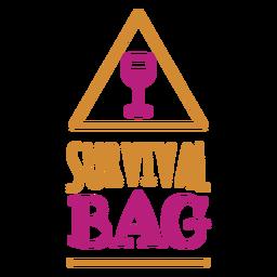 Etiqueta de vino de bolsa de supervivencia