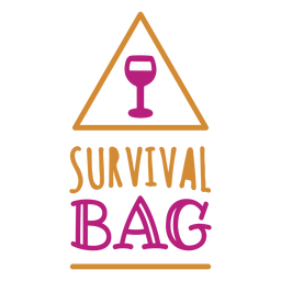 Survival bag wine label