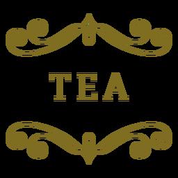 Rótulo de redemoinhos de chá