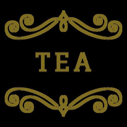 Etiqueta de remolinos de té