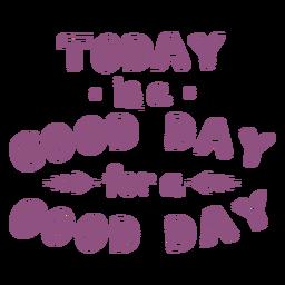 Hoy es un buen día letras