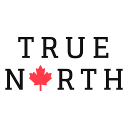 True north canada lettering