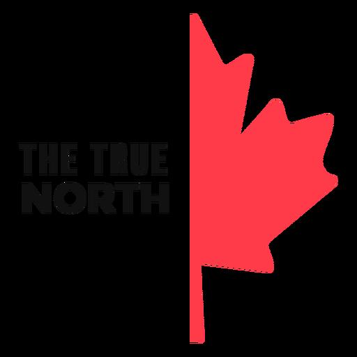 True north maple leaf flat Transparent PNG