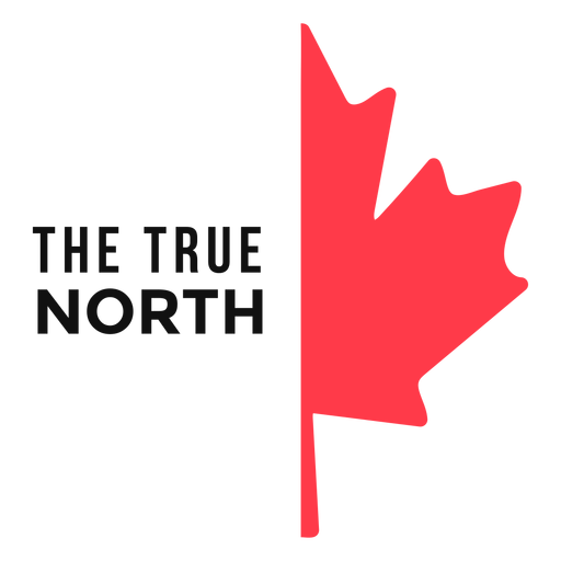 True north maple leaf flat