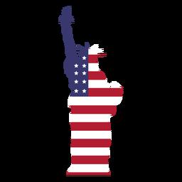 EUA bandeira estátua da liberdade plana