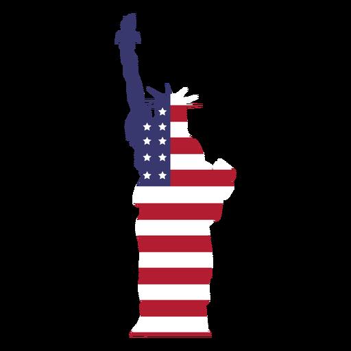 Usa flag statue of liberty flat