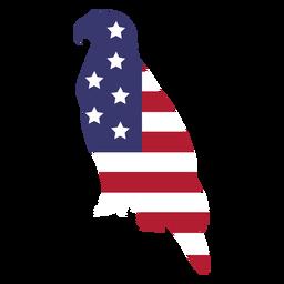 Águia de bandeira dos EUA plana