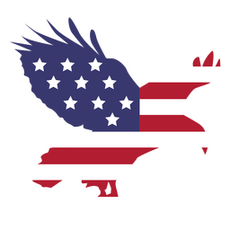 Usa flag flying eagle flat