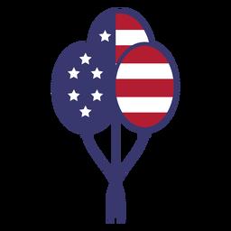 Bandera de Estados Unidos en globos planos