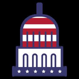 Bandera de Estados Unidos en capitol flat