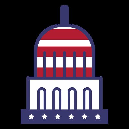 Bandera de estados unidos en capitolio