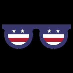 Bandera de estados unidos en vasos planos