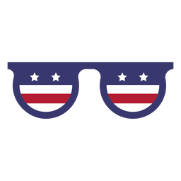 Usa flag in glasses flat
