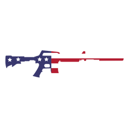 Usa flag in gun flat