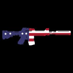 Usa Flagge in der Waffe flach