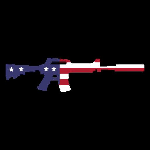 Usa flag in gun flat