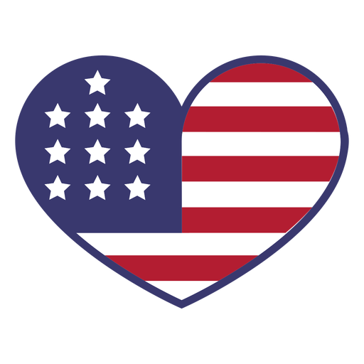 Usa flag in heart flat Transparent PNG