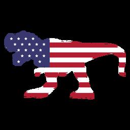 Bandera de estados unidos en t rex flat