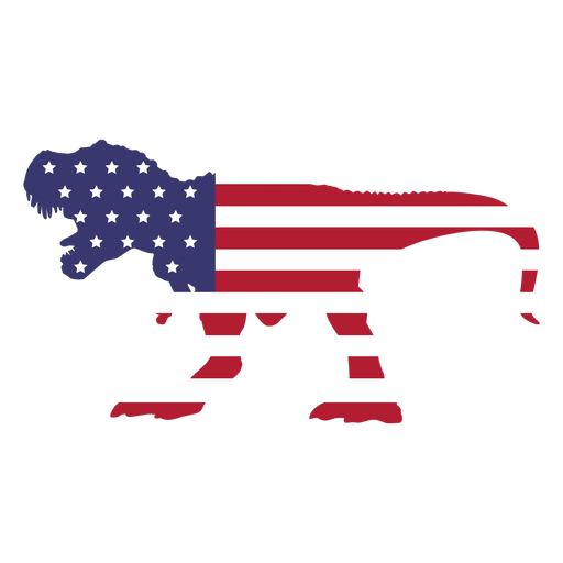 Usa flag in t rex flat