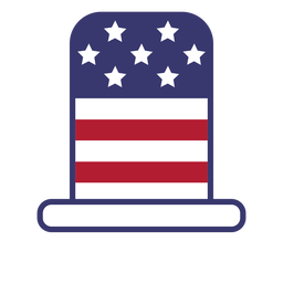 Bandeira dos EUA cartola plana