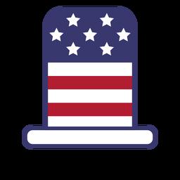 Sombrero de copa bandera de estados unidos