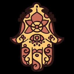 Upside down hamsa hand illustration