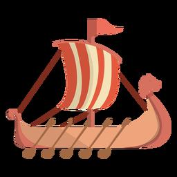 Viking historic row ship illustration
