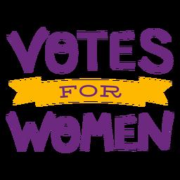 Votos para letras femininas