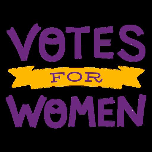 Votes for women lettering