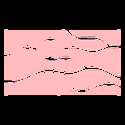 Patrón de líneas onduladas rosa