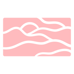 Wavy lines pink pattern