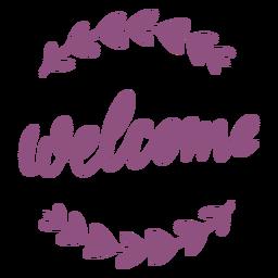 Bienvenido letras cursivas