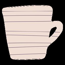 Dibujado a mano taza de café con leche
