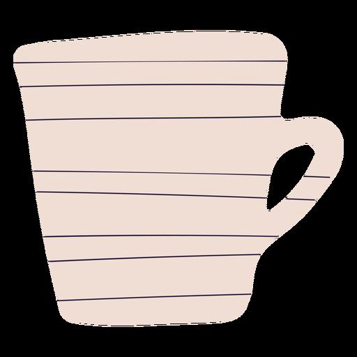 White coffee mug hand drawn