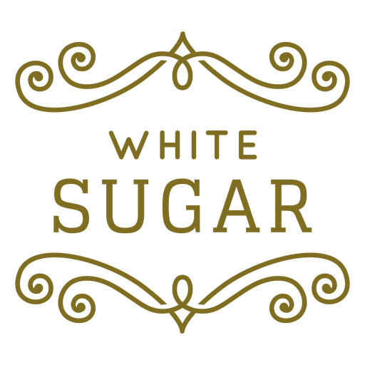 White sugar swirls label