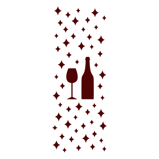 Wine glass and bottle pattern Transparent PNG