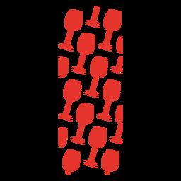 Copa de vino rojo patrón