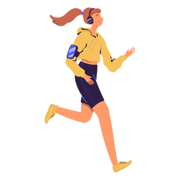 Woman jogging character