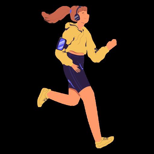 Carácter de jogging de mujer Transparent PNG
