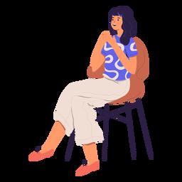 Woman sitting character