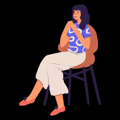 Carácter de mujer sentada Transparent PNG