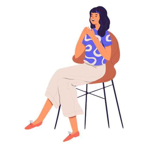 Woman sitting character Transparent PNG